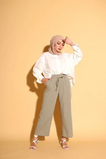 Luzy Pants In Faded Green