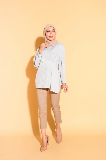 Henley Top In Light Mint