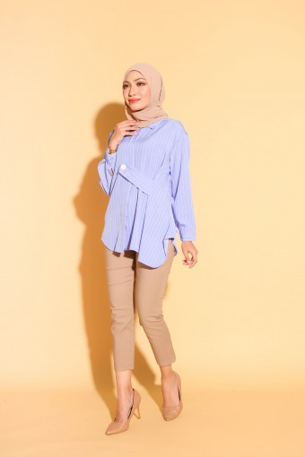 Henley Top In Periwinkle