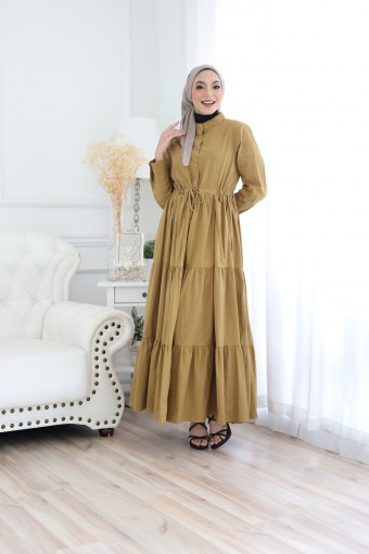 Ashley Dress In Golden Brown