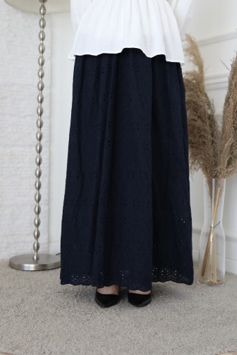 Tiara Skirt In Navy Blue